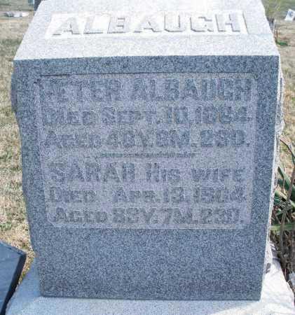 ALBAUGH, PETER - Montgomery County, Ohio   PETER ALBAUGH - Ohio Gravestone Photos