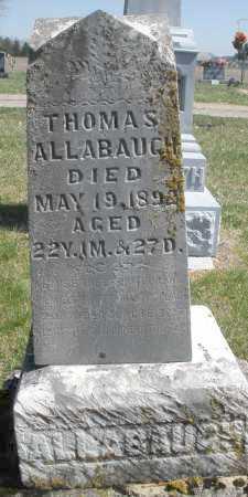 ALLABAUGH, THOMAS - Montgomery County, Ohio | THOMAS ALLABAUGH - Ohio Gravestone Photos