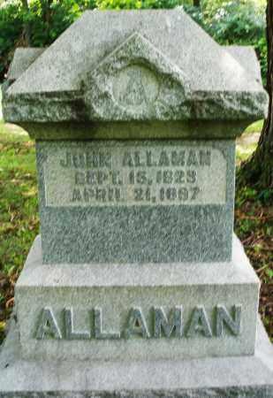 ALLAMAN, JOHN - Montgomery County, Ohio | JOHN ALLAMAN - Ohio Gravestone Photos
