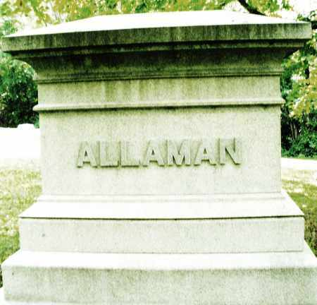 ALLAMAN, MONUMENT - Montgomery County, Ohio | MONUMENT ALLAMAN - Ohio Gravestone Photos