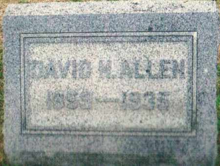 ALLEN, DAVID M. - Montgomery County, Ohio | DAVID M. ALLEN - Ohio Gravestone Photos