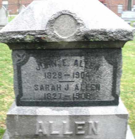 ALLEN, JOHN E. - Montgomery County, Ohio | JOHN E. ALLEN - Ohio Gravestone Photos