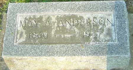 ANDERSON, MAY A - Montgomery County, Ohio | MAY A ANDERSON - Ohio Gravestone Photos