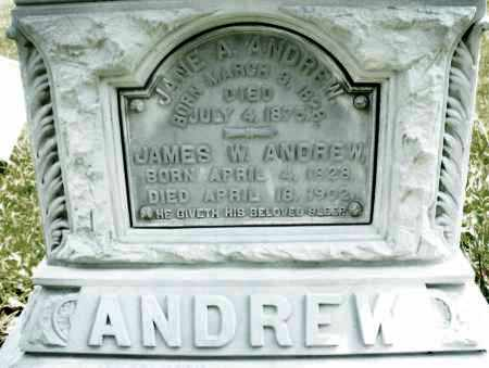 ANDREW, JAMES W. - Montgomery County, Ohio | JAMES W. ANDREW - Ohio Gravestone Photos