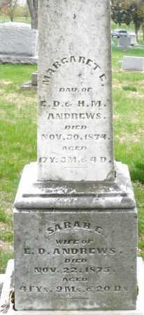ANDREWS, SARAH E. - Montgomery County, Ohio   SARAH E. ANDREWS - Ohio Gravestone Photos