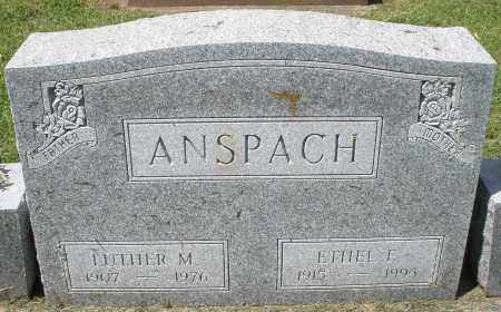 ANSPACH, LUTHER M. - Montgomery County, Ohio | LUTHER M. ANSPACH - Ohio Gravestone Photos