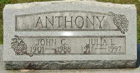ANTHONY, JULIA L - Montgomery County, Ohio | JULIA L ANTHONY - Ohio Gravestone Photos
