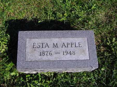 APPLE, ESTA M - Montgomery County, Ohio | ESTA M APPLE - Ohio Gravestone Photos
