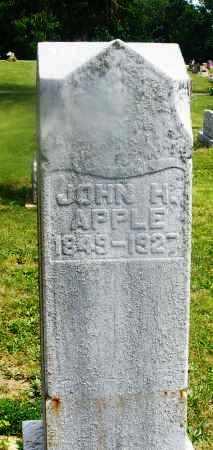 APPLE, JOHN H. - Montgomery County, Ohio | JOHN H. APPLE - Ohio Gravestone Photos