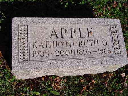 APPLE, RUTH O. - Montgomery County, Ohio | RUTH O. APPLE - Ohio Gravestone Photos
