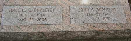 APPLETON, ARLENE - Montgomery County, Ohio   ARLENE APPLETON - Ohio Gravestone Photos