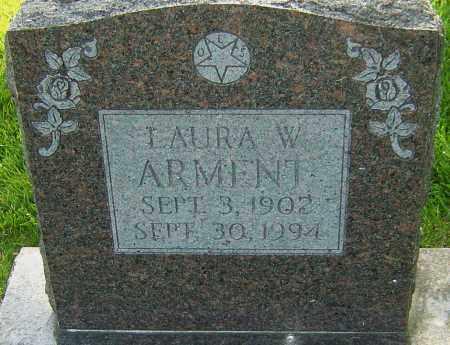 ARMENT, LAURA W - Montgomery County, Ohio   LAURA W ARMENT - Ohio Gravestone Photos
