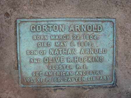ARNOLD, GORTON - Montgomery County, Ohio | GORTON ARNOLD - Ohio Gravestone Photos