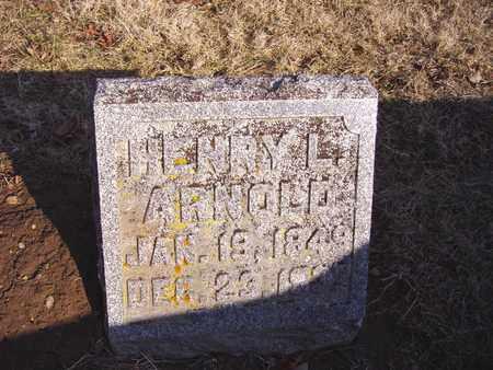 ARNOLD, HENRY L. - Montgomery County, Ohio   HENRY L. ARNOLD - Ohio Gravestone Photos