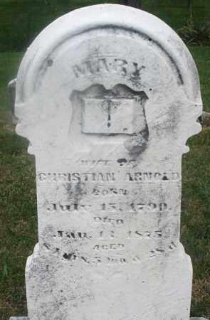 ARNOLD, MARY - Montgomery County, Ohio   MARY ARNOLD - Ohio Gravestone Photos