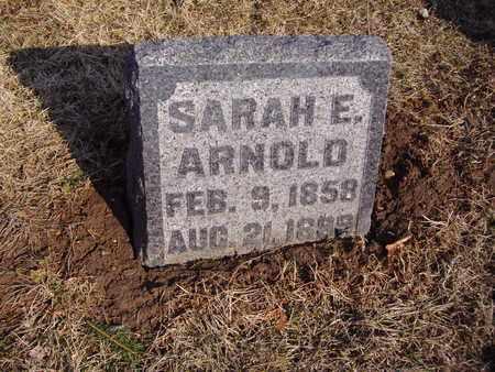 ARNOLD, SARAH E. - Montgomery County, Ohio   SARAH E. ARNOLD - Ohio Gravestone Photos