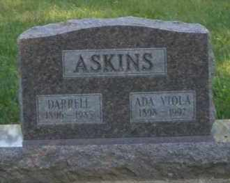 ASKINS, ADA VIOLA - Montgomery County, Ohio | ADA VIOLA ASKINS - Ohio Gravestone Photos