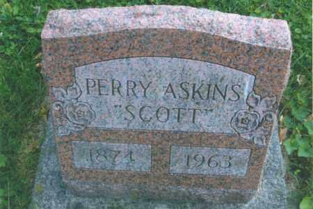 "ASKINS, PERRY ""SCOTT"" - Montgomery County, Ohio | PERRY ""SCOTT"" ASKINS - Ohio Gravestone Photos"