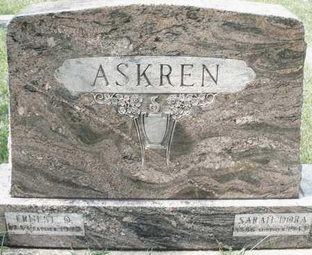 ASKREN, SARAH DORA - Montgomery County, Ohio | SARAH DORA ASKREN - Ohio Gravestone Photos