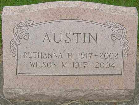 HATFIELD AUSTIN, RUTHANNA - Montgomery County, Ohio | RUTHANNA HATFIELD AUSTIN - Ohio Gravestone Photos