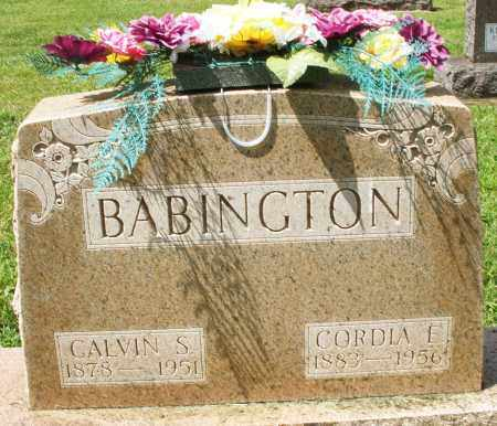 BABINGTON, CORDIA E. - Montgomery County, Ohio   CORDIA E. BABINGTON - Ohio Gravestone Photos