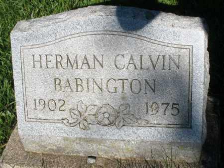 BABINGTON, HERMAN CALVIN - Montgomery County, Ohio | HERMAN CALVIN BABINGTON - Ohio Gravestone Photos