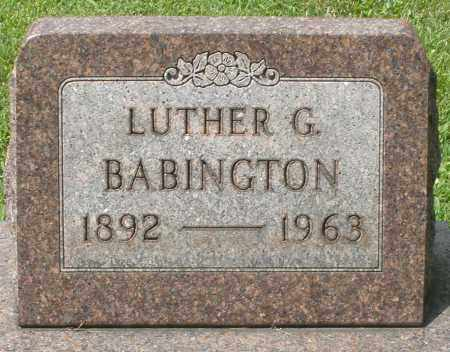 BABINGTON, LUTHER G. - Montgomery County, Ohio   LUTHER G. BABINGTON - Ohio Gravestone Photos