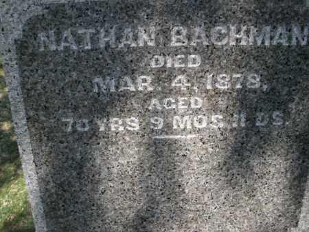 BACHMAN, NATHAN - Montgomery County, Ohio   NATHAN BACHMAN - Ohio Gravestone Photos