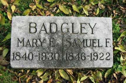 BADGLEY, SAMUEL F. - Montgomery County, Ohio | SAMUEL F. BADGLEY - Ohio Gravestone Photos