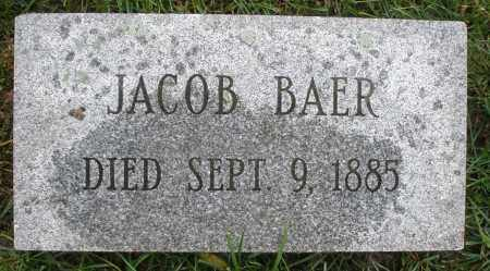 BAER, JACOB - Montgomery County, Ohio | JACOB BAER - Ohio Gravestone Photos