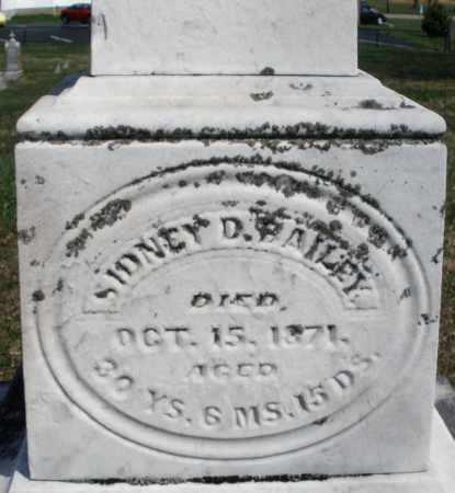 BAILEY, SIDNEY D. - Montgomery County, Ohio | SIDNEY D. BAILEY - Ohio Gravestone Photos