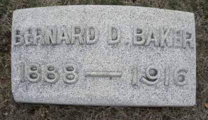 BAKER, BERNARD D. - Montgomery County, Ohio | BERNARD D. BAKER - Ohio Gravestone Photos