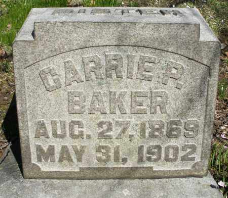 BAKER, CARRIE P. - Montgomery County, Ohio | CARRIE P. BAKER - Ohio Gravestone Photos