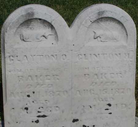 BAKER, CLINTON - Montgomery County, Ohio | CLINTON BAKER - Ohio Gravestone Photos