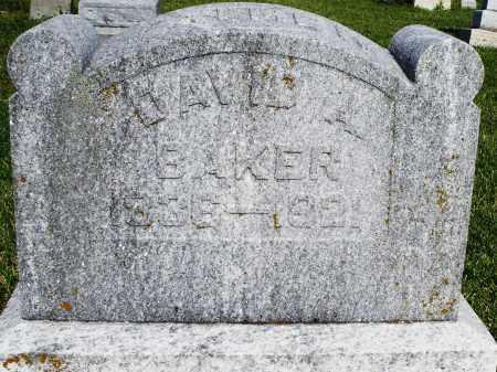 BAKER, DAVID - Montgomery County, Ohio | DAVID BAKER - Ohio Gravestone Photos
