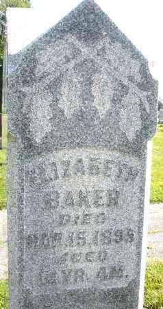 BAKER, ELIZABETH - Montgomery County, Ohio   ELIZABETH BAKER - Ohio Gravestone Photos