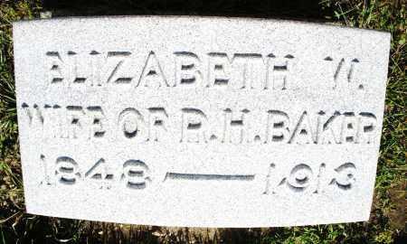 BAKER, ELIZABETH W. - Montgomery County, Ohio   ELIZABETH W. BAKER - Ohio Gravestone Photos