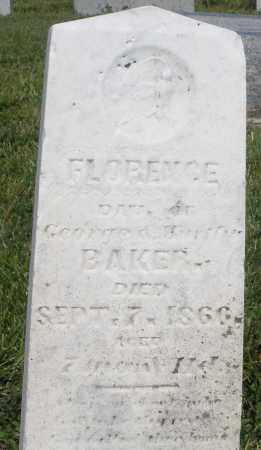 BAKER, FLORENCE - Montgomery County, Ohio   FLORENCE BAKER - Ohio Gravestone Photos