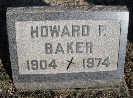 BAKER, HOWARD F. - Montgomery County, Ohio | HOWARD F. BAKER - Ohio Gravestone Photos
