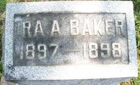 BAKER, IRA A. - Montgomery County, Ohio   IRA A. BAKER - Ohio Gravestone Photos