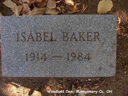 DIXON BAKER, ISABEL - Montgomery County, Ohio   ISABEL DIXON BAKER - Ohio Gravestone Photos