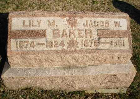 BAKER, LILY M. - Montgomery County, Ohio   LILY M. BAKER - Ohio Gravestone Photos