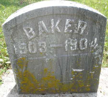 BAKER, JOSEPH - Montgomery County, Ohio | JOSEPH BAKER - Ohio Gravestone Photos