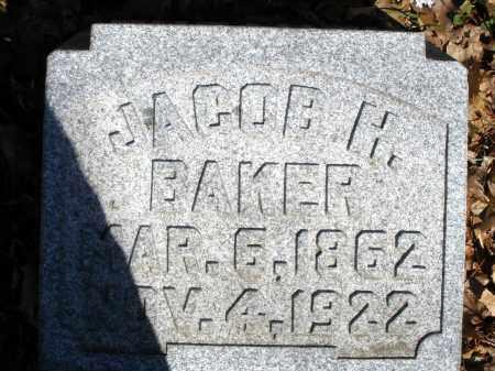 BAKER, JACOB H. - Montgomery County, Ohio | JACOB H. BAKER - Ohio Gravestone Photos