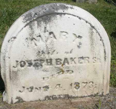 BAKER, MARY - Montgomery County, Ohio | MARY BAKER - Ohio Gravestone Photos