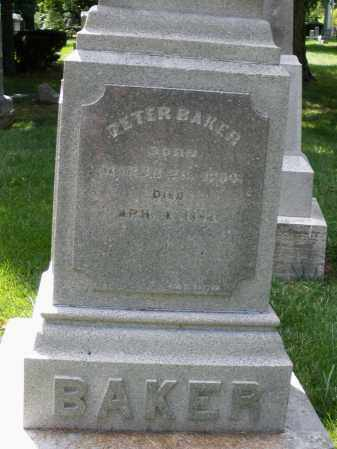 BAKER, PETER - Montgomery County, Ohio | PETER BAKER - Ohio Gravestone Photos