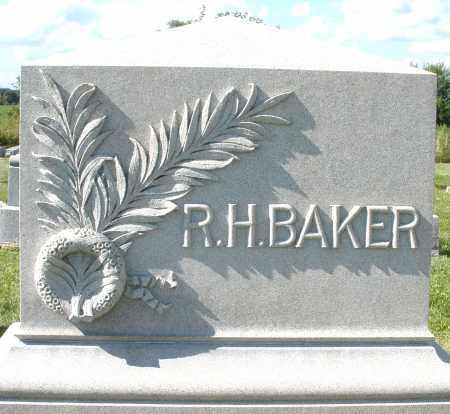 BAKER, R.H. - Montgomery County, Ohio   R.H. BAKER - Ohio Gravestone Photos