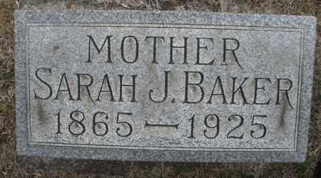 BAKER, SARAH  J. - Montgomery County, Ohio | SARAH  J. BAKER - Ohio Gravestone Photos