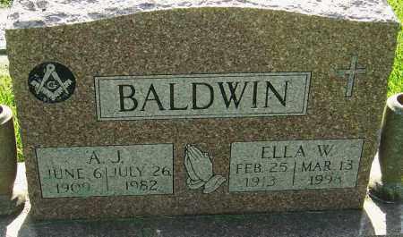 BALDWIN, ELLA W - Montgomery County, Ohio | ELLA W BALDWIN - Ohio Gravestone Photos