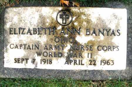 BANYAS, ELIZABETH ANN - Montgomery County, Ohio | ELIZABETH ANN BANYAS - Ohio Gravestone Photos